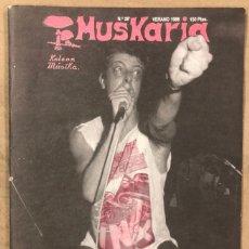 Riviste di musica: MUSKARIA N° 28 (VERANO 1986). CICATRIZ, TIJUANA IN BLUE, BAP!, DANBA, THE CURE, REDSKINS, PUNK,.... Lote 175152355