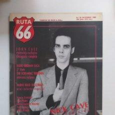 Riviste di musica: RUTA 66 - Nº 35 DE DICIEMBRE DE 1988. NICK CAVE , JOHN CALE, THE PIXIES, RADIO BIRDMAN, SEX MUSEUM. Lote 189787158