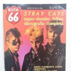 Riviste di musica: RUTA 66 Nº 41. STRAY CATS, ROGER CORMAN, DOGO Y LOS MERCENARIOS, HOT TUNA, COMBOY JUNKIES. Lote 189789383