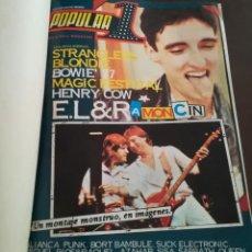 Revistas de música: VOLUMEN DE12 REVISTAS POPULAR 1 AÑO VI, DEL N° 55 AL 66, AÑOS 70.. Lote 190141416