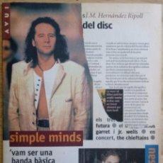 Revistas de música: REVISTA SUPLEMENTO AVUI - ABRIL 1995 - ENRIQUE SIERRA - RADIO FUTURA. Lote 190200918