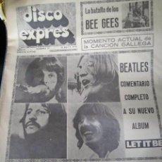 Revistas de música: DISCO EXPRES PERIODICO BEATLES PELICULA LET IT BE ORIGINAL EPOCA EXCELENTE ESTADO Y COMPLETA. Lote 190227398