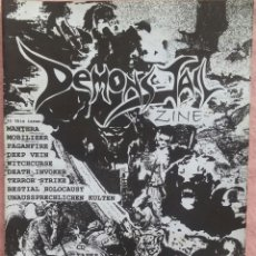 Revistas de música: DEMONS JAIL 'ZINE #2 /// BLOODY ORFISMO HELLSPAWN FLESH SALAD ERA DEL METAL HELL AWAITS NECROMANCE. Lote 190242108