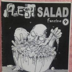 Revistas de música: FLESH SALAD 'ZINE #4 /// BLOODY ORFISMO HELLSPAWN ARGHURA ERA DEL METAL HELL AWAITS NECROMANCE DEATH. Lote 190275327