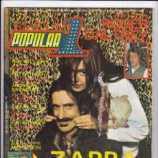 Revistas de música: REVISTA POPULAR 1 Nº 70 - ABRIL 1979 - INCLUYE POSTER QUEEN - ZAPPA - ROGER DALTRY - VAN MORRISON. Lote 190704448
