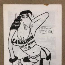Revistas de música: LA VACA AUSTERA N° 2 (MADRID 1988). HISTÓRICO FANZINE ORIGINAL REALIZADO POR KIKE TÚRMIX.. Lote 191364525