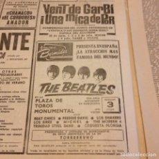 Revistas de música: BEATLES ANUNCIO ORIGINAL LA VANGUARDIA. Lote 191388843