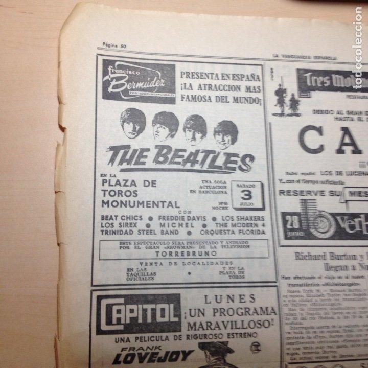 Revistas de música: Beatles Anuncio original La Vanguardia - Foto 6 - 191390003