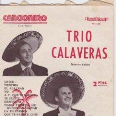 Revistas de música: CANCIONERO, EDITORIAL ALAS Nº 123 - TRIO CALAVERAS. Lote 191607213