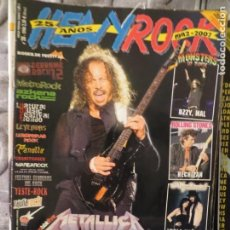 Magazines de musique: HEAVY ROCK :NUM.288-METALLICA-HALFORD-TYPE O NEGATIVE-ROSE TATTOO-ROLLING STONES-ROSENDO. Lote 192268843