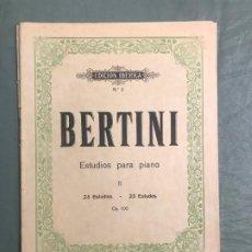 Revistas de música: BERTINI 25 ESTUDIOS PARA PIANO II OP. 100 EDICION IBERICA Nº. 2 - 1919. Lote 192576875