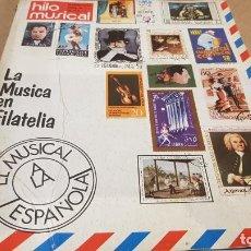 Revistas de música: REVISTA HILO MUSICAL Nº 36 / LA MÚSICA EN FILATELIA / INTERESANTES REPORTAJES - AÑO 1974. Lote 192626568