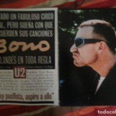 Revistas de música: U2 COLECCIÓN DE ARTÍCULOS, REPORTAJES Y REVISTA. Lote 192710556
