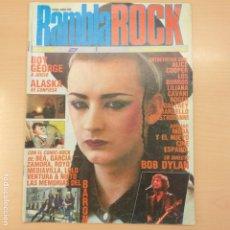 Revistas de música: RAMBLA ROCK NUM 0. BOY GEORGE ALASSKA ALICE COOPER LOS BURROS LILIANA CAVANI DYLAN. Lote 192854727