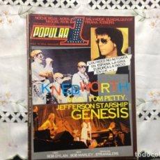 Revistas de música: GENESIS, MARLEY, DYLAN, STRAMGLERS, TRIANA, MIGUEL RIOS ETC. POPULAR 1 Nº 62 / 1978. Lote 205763127
