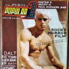 Revistas de música: POPULAR 1 Nº 28 DE 1975- ROCKY HORROR PICTURE SHOW- ATILA- DALTREY- J CALE- BAD CO- PAU RIBA SISA.... Lote 192898887