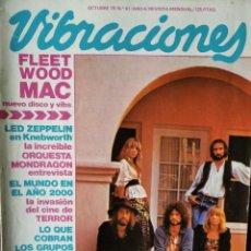 Revistas de música: VIBRACIONES Nº 61 DE 1979- FLEETWOOD MAC- TEQUILA- MONDRAGON- LED ZEPPELIN- FESTIVAL FUENTE GUINALDO. Lote 193029341