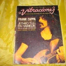 Revistas de música: VIBRACIONES Nº 1. OCTBRE 1974. FRANK ZAPPA / JETHRO TULL. POSTER : JETHRO TULL. Lote 193827461