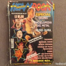 Revistas de música: HEAVY ROCK :NUM.162-METALLICA-LA POLLA RECORDS-BLACK CROWES-MANOWAR-EXTREMODURO-LOS SUAVES-KOMA. Lote 193834382