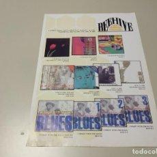 Revistas de música: 0220- FOLLETO/TRIPTICO BEEHIVE ANNE CLARK LONDON . Lote 194275205