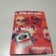Revistas de música: 0220-CATALOGO EL ACERO MAS DURO CD DISTRIMUSIC ESPAÑA 4 PAGINAS. Lote 194276241