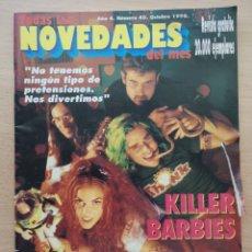 Revistas de música: TODAS LAS NOVEDADES DEL MES Nº 40 1996 KILLER BARBIES. REM, PEARL JAM, BLUR, NIRVANA, MANOWAR.... Lote 194293231