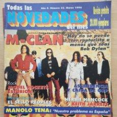 Revistas de música: TODAS LAS NOVEDADES DEL MES Nº 33 1996 M-CLAN, MANOLO TENA, ESTURION, HALLOWEEN, PLANETAS.... Lote 194293267