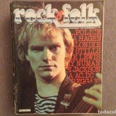 Revistas de música: ROCK & FOLK:N.159-THE POLICE-AC/DC-NINA HAGEN-BLONDIE-JOE JACKSON-THE CLASH. Lote 194335285