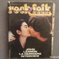 Revistas de música: ROCK & FOLK:N.168-JOHN LENNON-ALICE COOPER-AC/DC-TRUST-MOTORHEAD-CHEAP TRICK. Lote 194335689