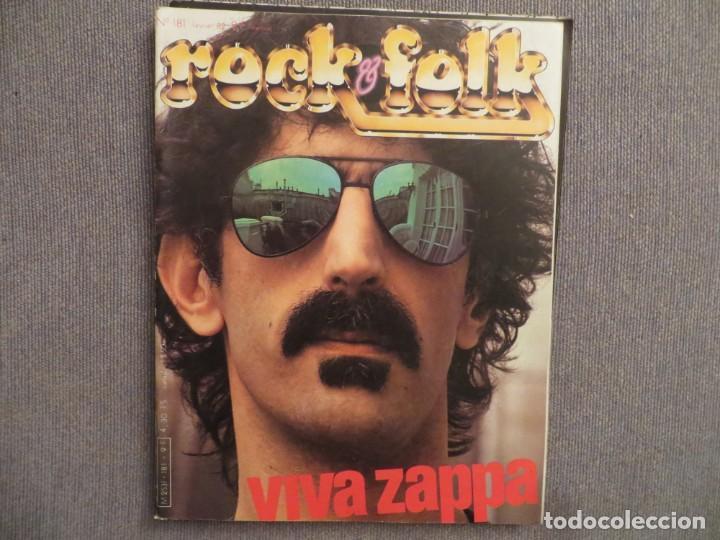 ROCK & FOLK:N.181-F.ZAPPA-ALICE COOPER-JEAN M. JARRE-KING CRIMSON-FLEETWOOD MAC (Música - Revistas, Manuales y Cursos)