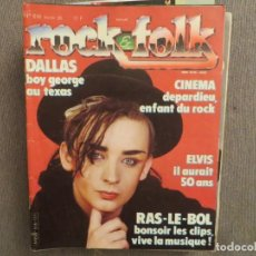 Revistas de música: ROCK & FOLK:N.216-CULTURE CLUB-ELVIS PRESLEY-NEIL YOUNG-BYRDS-KING COLE. Lote 194511878