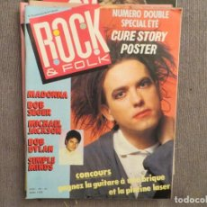 Revistas de música: ROCK & FOLK:N.232-THE CURE-MADONNA-MICHAEL JACKSON-SIMPLE MINDS-DEPECHE MODE. Lote 194514470