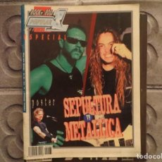 Revistas de música: POPULAR 1 ESPECIAL N.165- METALLICA- SEPULTURA (INCLUYE SUPER POSTER) !!!!!!!!!!. Lote 194635058