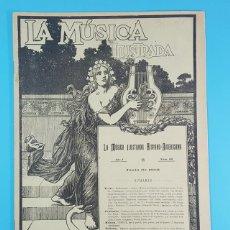 Revistas de música: REVISTA LA MUSICA ILUSTRADA HISPANO AMERICANA Nº 66 JUNIO 1902 CON LAMINA DE PABLO RUIZ PICASSO. Lote 194675045