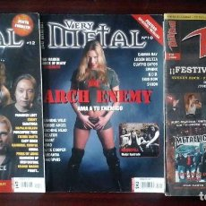 Revistas de música: REVISTA VERY METAL 10 Y 12 + 1 ROCK HARD 30 - 2 PÓSTERS.. Lote 194733137