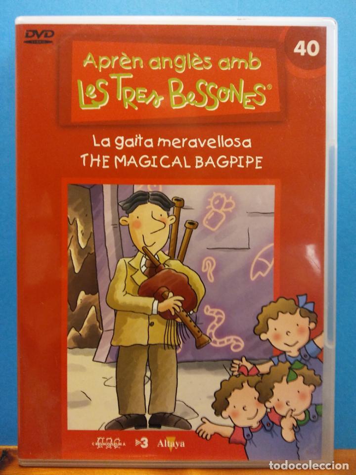 APRÈN ANGLÈS AMB LES TRES BESSONES. LA GAITA MERAVELLOSA THE MAGICAL BAGPIPE. DVD. ALTAYA (Música - Revistas, Manuales y Cursos)