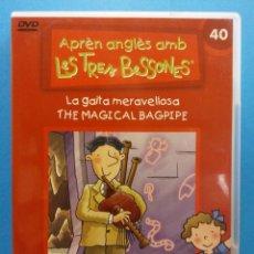 Revistas de música: APRÈN ANGLÈS AMB LES TRES BESSONES. LA GAITA MERAVELLOSA THE MAGICAL BAGPIPE. DVD. ALTAYA. Lote 194764347