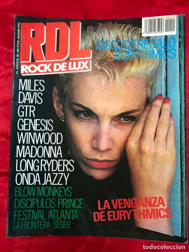 REVISTA ROCK DE LUX RDL Nº21. AGOSTO 1985. LA VENGANZA DE EURYTHMICS, PRINCE, MADONNA, LA FRONTERA,. (Música - Revistas, Manuales y Cursos)
