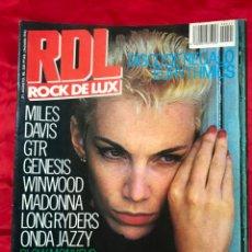 Revistas de música: REVISTA ROCK DE LUX RDL Nº21. AGOSTO 1985. LA VENGANZA DE EURYTHMICS, PRINCE, MADONNA, LA FRONTERA,.. Lote 194768785