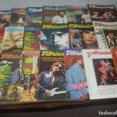 Revistas de música: REVISTA VIBRACIONES, AÑOS 1980-1981, LOTE 19 NÚMEROS, LEER DESCRIPCIÓN. Lote 194886855