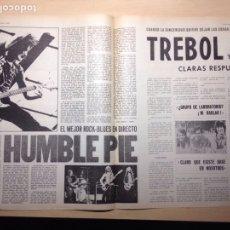 Revistas de música: CLIPPING DISCO EXPRESS - HUMBLE PIE - TREBOL - SERRAT - CECILIA - GENE PITNEY. Lote 194954642