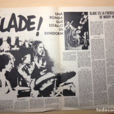 Revistas de música: CLIPPING DISCO EXPRESS - SLADE - NÁQUIBA - ALAN WHITE - DELANEY & BONEY - FUEGO. Lote 194955051