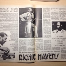 Revistas de música: CLIPPING DUSCO EXPRESS - RICHIE HAVENS - GINGER BAKER - EMERSON LAKE AND PALMER. Lote 194955668