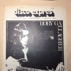 Revistas de música: CLIPPING DISCO EXPRESS - RORY GALLAGHER - BLOOD SWEAT& TEARS - WHO - PETE TOWNSHEND - LOS CANARIOS. Lote 194957548