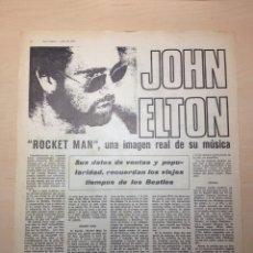 Revistas de música: CLIPPING DISCO EXPRESS - ELTON JOHN - FUSIOON. Lote 194958750