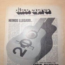 Revistas de música: DISCO EXPRESS NUM. 200 - HUMBLE PIE - PINK FLOYD - SANTANA - TRAFFIC - CAT STEVENS. Lote 194959861