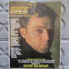 Revistas de música: POPULAR 1 :N.132-DAVID GILMOUR-VENOM-STUKAS-IAN DURY-SIMPLE MINDS-BARRICADA. Lote 195136965