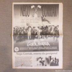 Revistas de música: PERIÓDICO NEGU GORRIAK GORA HERRIA TOUR 91. Lote 195180520