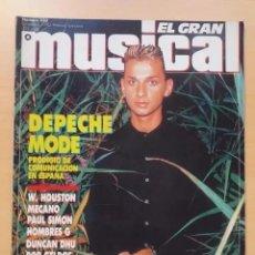 Revistas de música: EL GRAN MUSICAL NUM 330. DEPECHE MODE, WITHNEY HOUSTON, MECANO, PAUL SIMON, HOMBRES G, DUNCAN DHU.. Lote 195187048