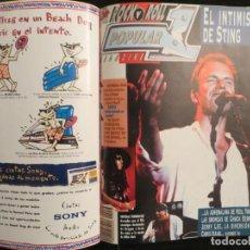 Revistas de música: POPULAR 1 :N.238-STING-COVERDALE/PAGE-HANOI ROCKS-DANZING-LEÑO-ROBERT PLANT. Lote 195327267